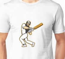 Cricket Player Batsman Batting Unisex T-Shirt