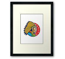Native American Indian Headgear Side Framed Print
