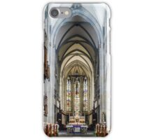Majestic gothic cathedral interior. Beautiful religious plsce of workship. iPhone Case/Skin
