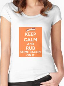 Rub Some Bacon on It  Women's Fitted Scoop T-Shirt