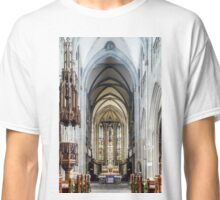 Majestic gothic cathedral interior. Beautiful religious plsce of workship. Classic T-Shirt