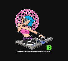 Enlightened DJ Girl - July 2012 CRUNKECOWEAR.NET BEGREENRECORDS.NET Womens Fitted T-Shirt