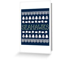 Seattle Seahawks Ugly Christmas Costume. Greeting Card