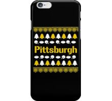 Pittsburgh Steelers Ugly Christmas Costume. iPhone Case/Skin