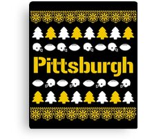Pittsburgh Steelers Ugly Christmas Costume. Canvas Print
