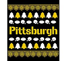 Pittsburgh Steelers Ugly Christmas Costume. Photographic Print
