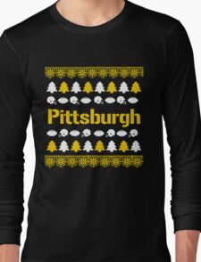 Pittsburgh Steelers Ugly Christmas Costume. Long Sleeve T-Shirt