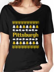 Pittsburgh Steelers Ugly Christmas Costume. Women's Relaxed Fit T-Shirt