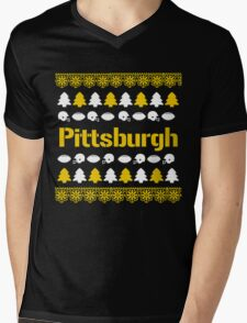 Pittsburgh Steelers Ugly Christmas Costume. Mens V-Neck T-Shirt