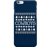 Dallas Cowboys Ugly Christmas Costume. iPhone Case/Skin