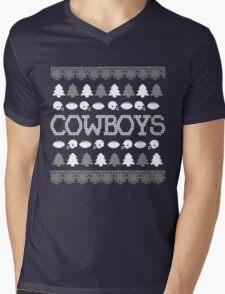 Dallas Cowboys Ugly Christmas Costume. Mens V-Neck T-Shirt