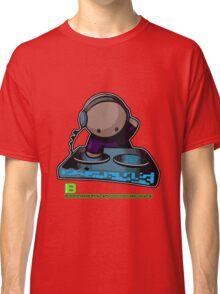 SIMPLE-CARTOON-DJ-GUY - JULY 2012 MERCH - CRUNKECOWEAR.NET BEGREENRECORDS.NET Classic T-Shirt