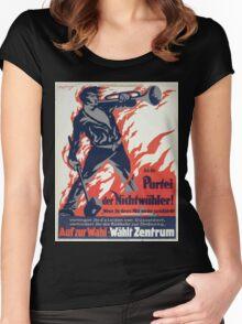An die Partei der Nichtwähler! Auf zur Wahl Wählt Zentrum 1337 Women's Fitted Scoop T-Shirt