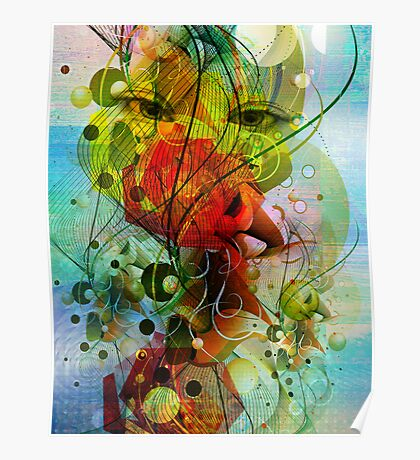 Abstract Digital Art- Dynamic Shapes And Lines Poster