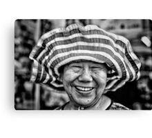 Hat Lady. Canvas Print