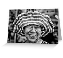 Hat Lady. Greeting Card