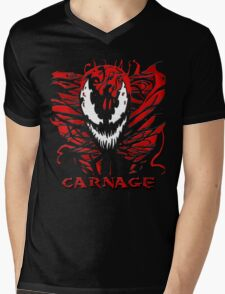 Carnage Mens V-Neck T-Shirt