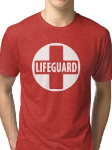 Guard the Life - White Tri-blend T-Shirt