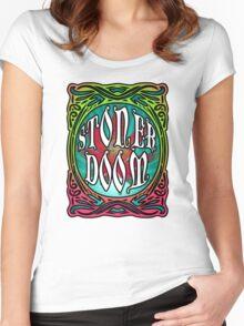 STONER DOOM Women's Fitted Scoop T-Shirt