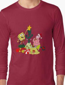 Merry Christmas From Spongebob Long Sleeve T-Shirt