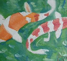 Two Koi Too Coy by May Lee Chung
