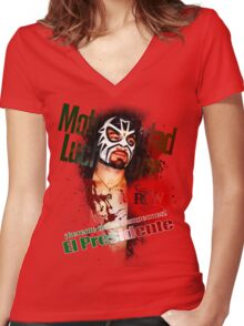 ¡Gerente de los campeones! - (Manager of the Champions!) Women's Fitted V-Neck T-Shirt