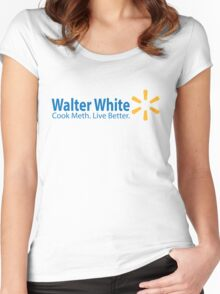 Walter White Live Better Women's Fitted Scoop T-Shirt