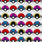 Pokeball Pattern - White by RubyTruffles