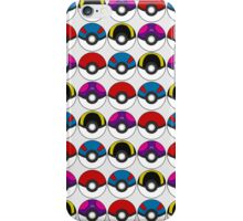 Pokeball Pattern - White iPhone Case/Skin