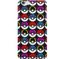 Pokeball Pattern -  Black iPhone Case/Skin