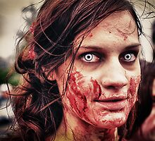 Zombie eyes. by Darren  Rooney