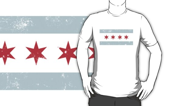 Chicago Flag Tee by Chicago Tee