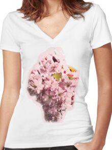 CHERRY BLOSSOM TIME   TEE SHIRT/KIDS TEE/BABY GROW/STICKER Women's Fitted V-Neck T-Shirt