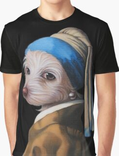 The Dog with the Pearl Earring (silhouette) Graphic T-Shirt