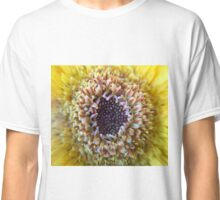 Macro Yellow Flower Center Classic T-Shirt