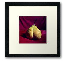 Pear Derrière Framed Print
