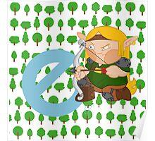 e for elf Poster