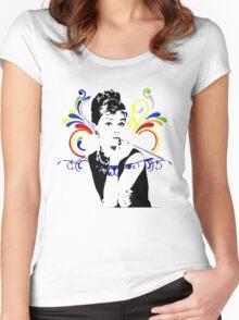 Audrey hepburn t-shirt Women's Fitted Scoop T-Shirt