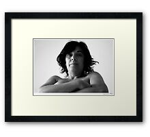 black & white portrait Framed Print