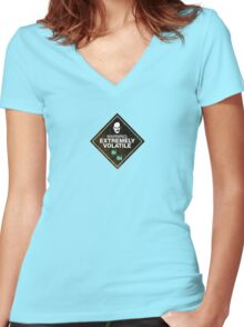 Breaking Bad Volatile Women's Fitted V-Neck T-Shirt