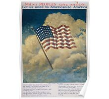 Many peoples one nation Let us unite to Americanize America 002 Poster