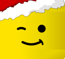 Santa Ho Ho Ho Minifig by Customize My Minifig Sticker