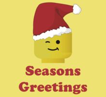 Santa Minifig Seasons Greetings by Customize My Minifig Baby Tee