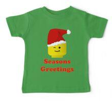 Santa Minifig Seasons Greetings by Customize My Minifig Baby Tee