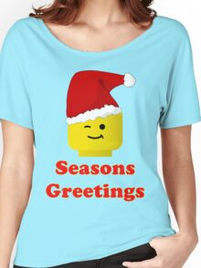 Santa Minifig Seasons Greetings by Customize My Minifig Women's Relaxed Fit T-Shirt