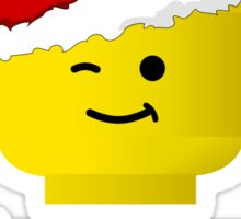 Santa Minifig Seasons Greetings by Customize My Minifig Sticker