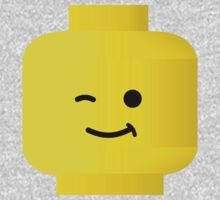Minifig Winking Head by Customize My Minifig One Piece - Long Sleeve