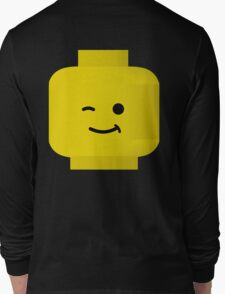 Minifig Winking Head by Customize My Minifig Long Sleeve T-Shirt
