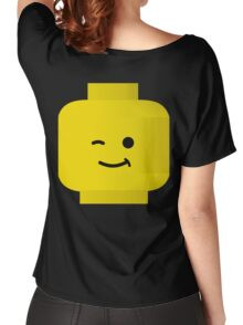 Minifig Winking Head by Customize My Minifig Women's Relaxed Fit T-Shirt