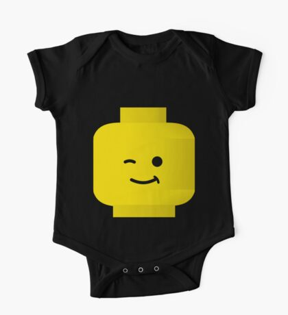 Minifig Winking Head by Customize My Minifig One Piece - Short Sleeve